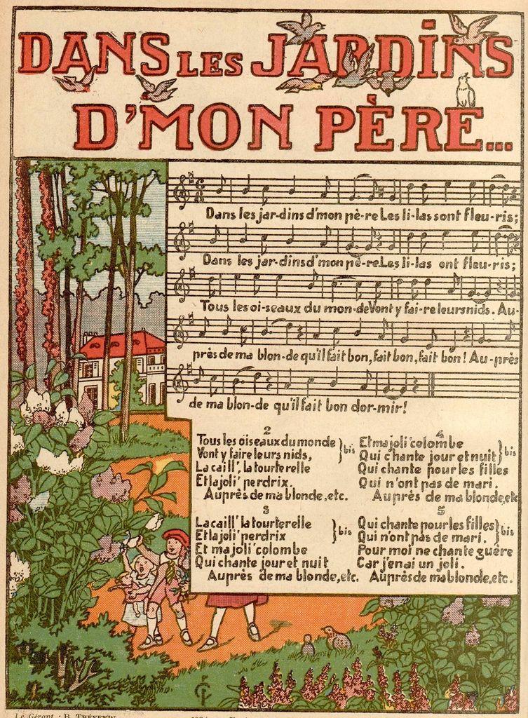 Chanson dans les jardins de mon p re for Au jardin de mon pere